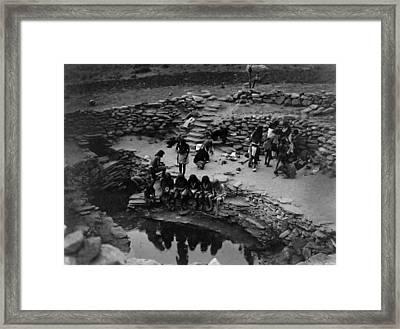 Hopi Native American Flute Ceremony Framed Print by Jennifer Rondinelli Reilly - Fine Art Photography