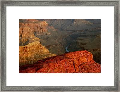 Hopi Point Sunrise Framed Print by Stephen  Vecchiotti
