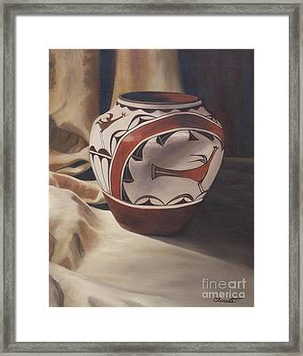 Hopi Pottery Framed Print by Barbara Barber