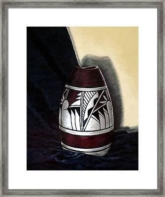 Hopi Pottery Framed Print by Linda Becker
