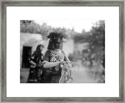 Hopi Snake Priest, C1906 Framed Print