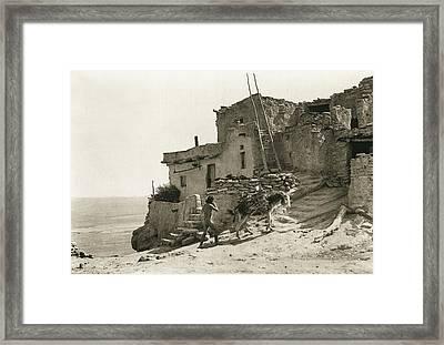 Hopi, The Wood Gatherer Framed Print by Underwood Archives