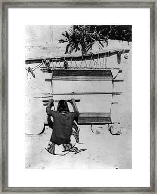 Hopi Weaving, 1879 Framed Print