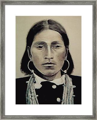 Hopi Woman Of The First Light Framed Print by Terri Ana Stokes