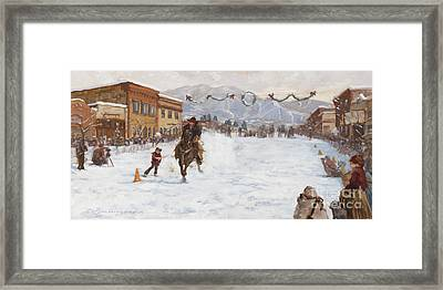Hoping For A Fast Horse Framed Print