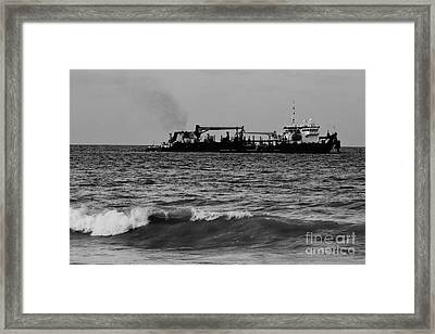 Hopper Dredge B W Framed Print