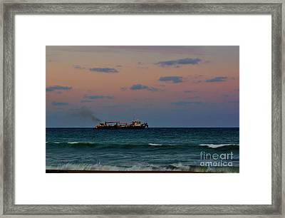 Hopper Dredge Framed Print