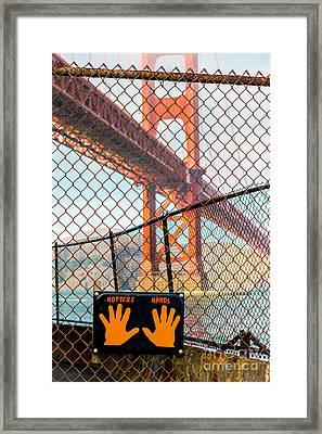 Hoppers Hands Framed Print
