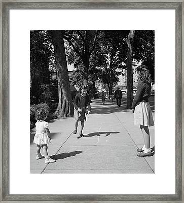Hopscotch, 1942 Framed Print by Granger
