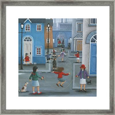 Hopscotch Framed Print by Peter Adderley