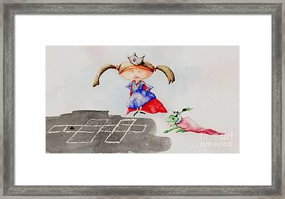 Hopscotch Prince Framed Print