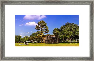 Horace Eggleston's House - Gonzales Texas Framed Print by Silvio Ligutti