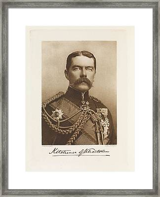 Horatio Herbert Kitchener Framed Print by British Library