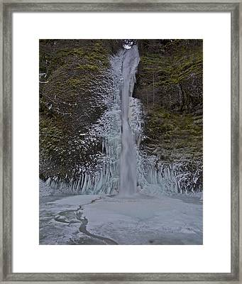 Framed Print featuring the photograph Horestail Falls Fva by Todd Kreuter