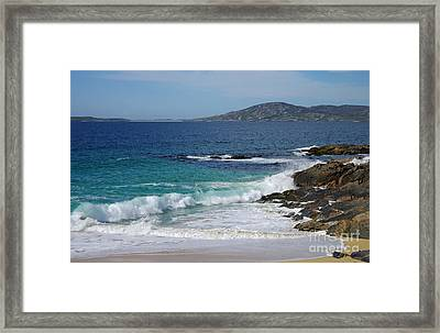 Framed Print featuring the photograph Horgabost Beach Harris by Jacqi Elmslie