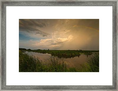 Horicon Marsh Storm Framed Print by Steve Gadomski