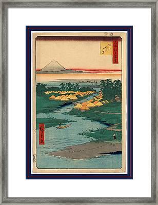 Horie Nekozane, Horie And Nekozane. 1856 Framed Print