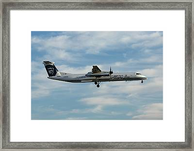 Horizon Airlines Q-400 Approach Framed Print