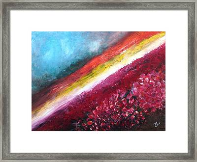 Horizon Flowers Framed Print