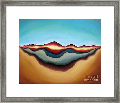 Horizon Of Ages Framed Print by Tiffany Davis-Rustam