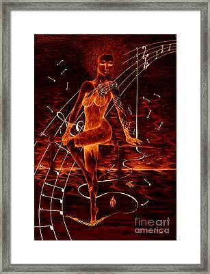 Horizon Of Fire Framed Print by Kenneth Clarke