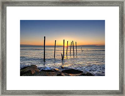 Horizon Sunburst Framed Print