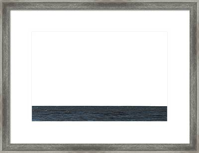 Horizon White Framed Print by Jeff Kauffman