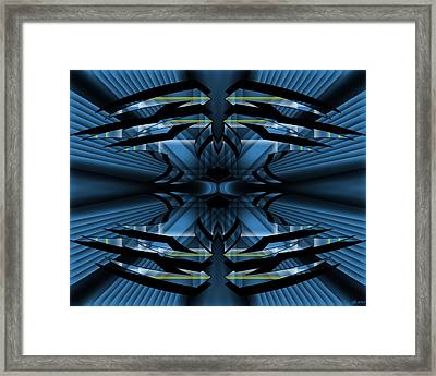 Framed Print featuring the digital art Horizons Past 1 by Brian Johnson