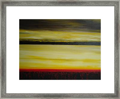Framed Print featuring the painting Horizons by Tamara Bettencourt