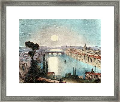 Horizontal Moon Framed Print by Universal History Archive/uig