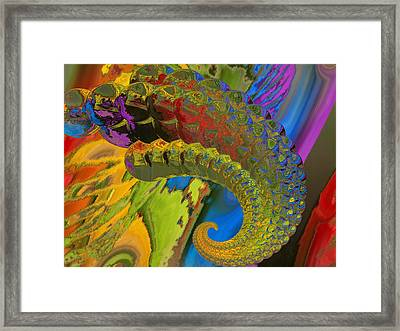 Horn Framed Print by Soumya Bouchachi