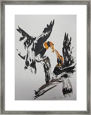 Hornbill  Framed Print by Pornchai Lerttamasiri