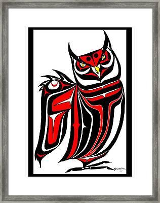 Hornd Owl Framed Print by Speakthunder Berry