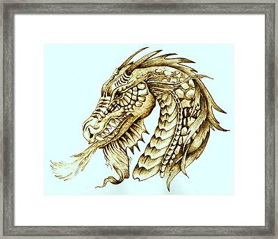Horned Dragon Framed Print by Danette Smith