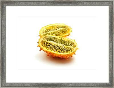 Framed Print featuring the photograph Horned Melon by Fabrizio Troiani