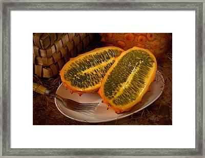 Horned Melon0541 Framed Print