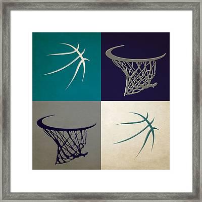 Hornets Ball And Hoop Framed Print by Joe Hamilton