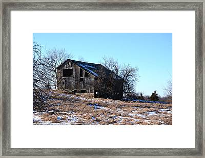 Horning Road Barn Framed Print by Jennifer  King