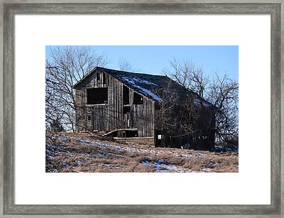 Horning Road Barn2 Framed Print by Jennifer  King