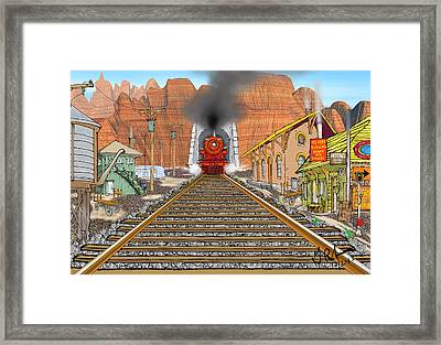 Horn's Junction Framed Print by Gerry Robins