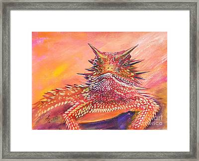 Horny Toad Framed Print
