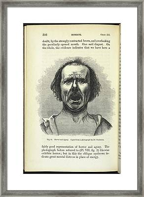 Horror And Agony Framed Print by British Library