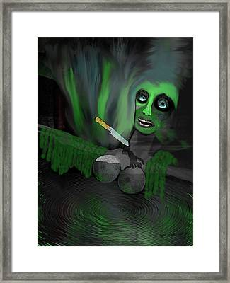 Horror -  But Her New Breasts Will Last Forever - 240 Framed Print