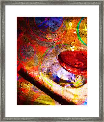Hors D Age Cognac And Stogie Framed Print by Wingsdomain Art and Photography