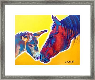 Horse - Little Sister Framed Print