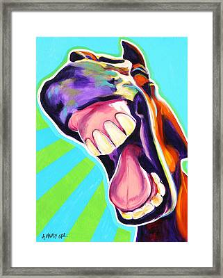 Horse - That's A Good One Framed Print