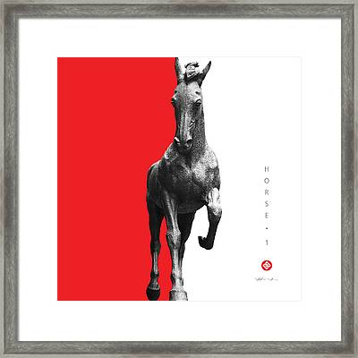 Horse 1 Framed Print by David Davies