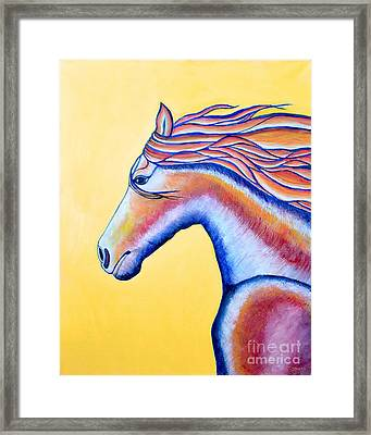 Framed Print featuring the painting Horse 1 by Joseph J Stevens