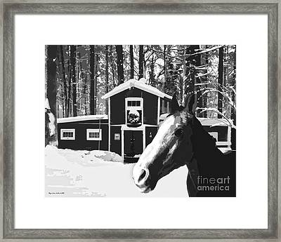 Horse And Barn No3 Framed Print