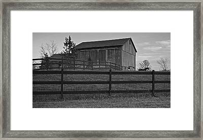 Horse And Barn Framed Print